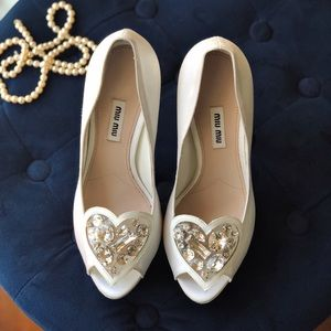 1aacaf0306e Women s Miu Miu Crystal Heel on Poshmark